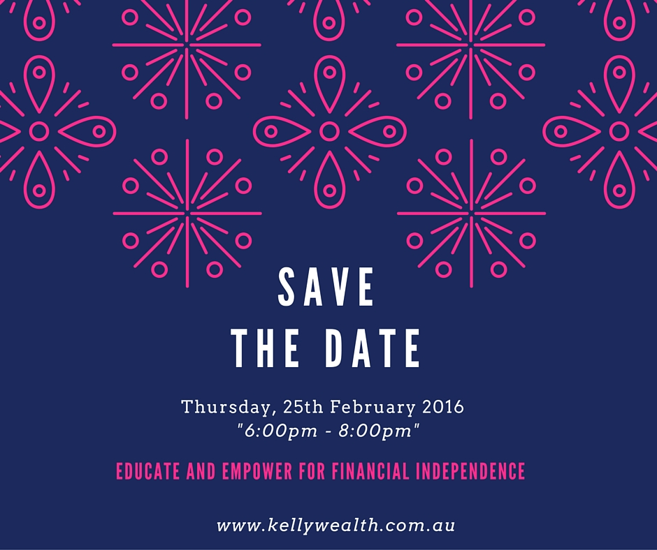 FB Save the Date Creating Wealthy Women    Info Night Cairns Finance Advisor